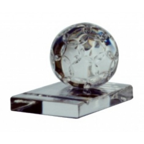 SOCCER BALL PAPERWEIGHT Ø60 - CLEAR/MATT