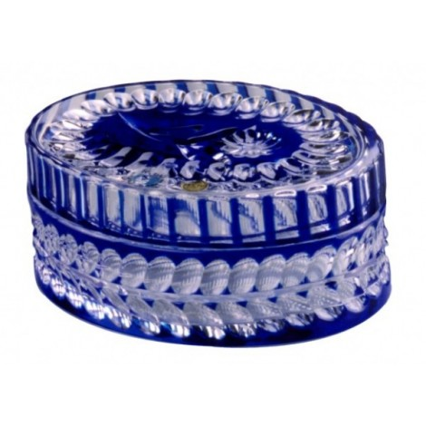 CASED BLUE OVAL COVERED BOX 170x170 FLOWER